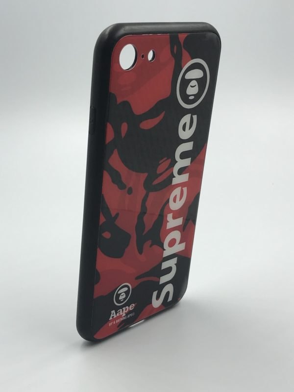 Abstract Dark Red Aape Supreme Case IPhone 6/6s/7/8/X – MobileKare